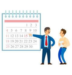 Breaking deadline angry boss time management vector