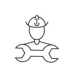builder people icon vector image