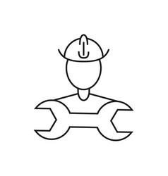 builder people icon vector image