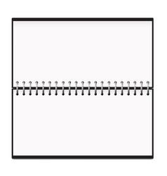 Calendar horizontal notepad metal spring mockup vector