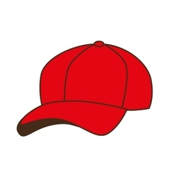 Cap red baseball isolated vector