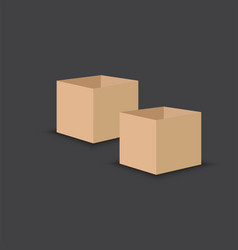 cardboard package box flat design style vector image
