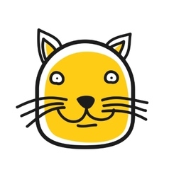 Cartoon animal head icon Cat face avatar vector