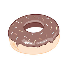 Cartoon colorful tasty donut isolated on white vector