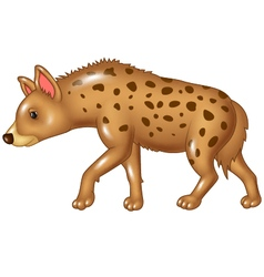 Cartoon hyena walking isolated on white background vector