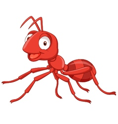 Cartoon red ant vector