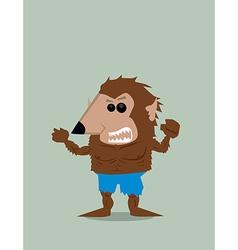 Cartoon Werewolf vector image