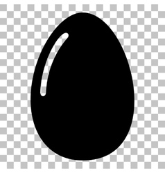 Chiken egg sign Flat style black icon on vector