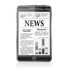 Concept - Digital News Smartphone with News vector image