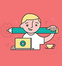 Creative Designer at Work vector image