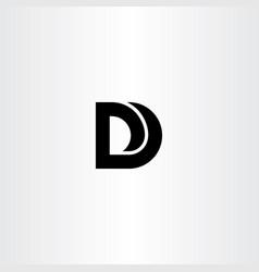 d logo black icon sign symbol element vector image