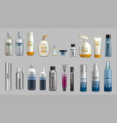digital realistic bottles set collection vector image