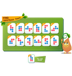 Educational game find superfluous figure vector