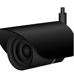Exterior video camera icon vector
