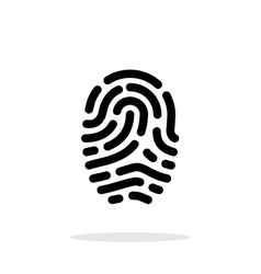 Fingerprint scanner icon on white background vector image