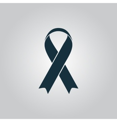 Flat ribbon aids symbol icon vector