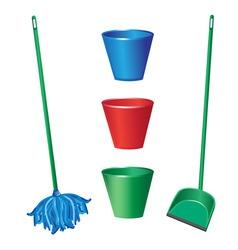 floor cleaning vector image
