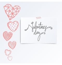 Folded in half leaflet with valentines day quote vector