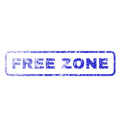 Free zone rubber stamp vector