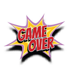Game over comic word vector