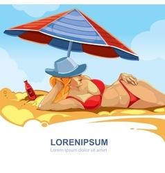 girl in the red bikini vector image