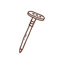 Hand Drawn Nail vector