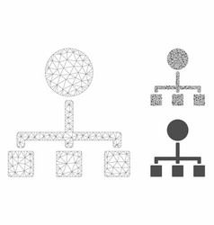 Hierarchy mesh wire frame model and vector