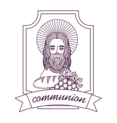 Jesus catholicism religion card vector