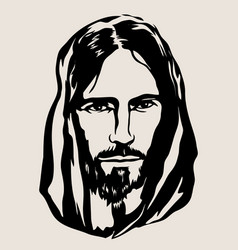jesus face vector image