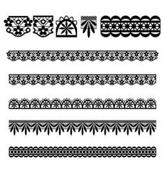 lace trim brush set vector image