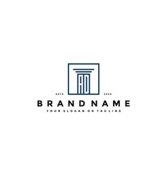 Letter ad law logo design vector