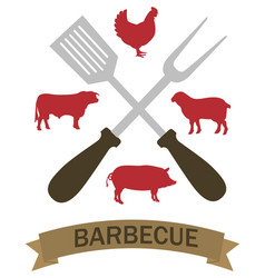 logo grilled food vector image