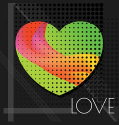 love abstract green vector image