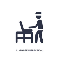 Luggage inspection icon on white background vector