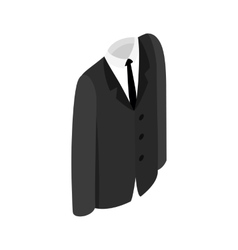Male suit icon vector image