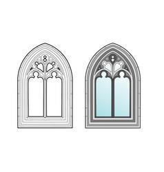 Medieval window vector