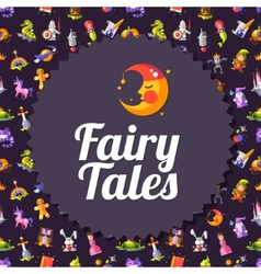 Modern flat design fairy tales and magic flyer vector image