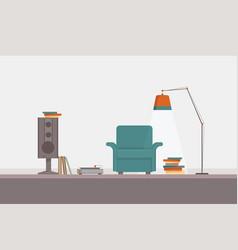 music and books corner vector image