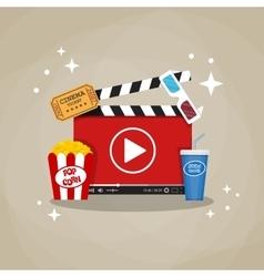 Online home cinema concept vector image