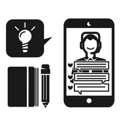 online live webinar icon simple style vector image