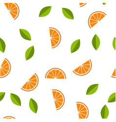 orange lemon seamless pattern vector image