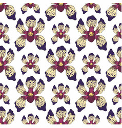 orchid on a white background decorative seamless vector image