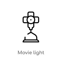 outline movie light icon isolated black simple vector image