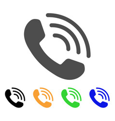 phone ring flat icon vector image