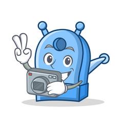 Photography pencil sharpener character cartoon vector