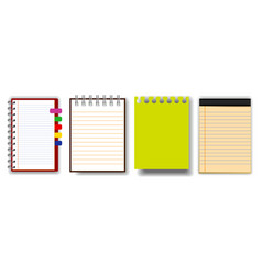 prset note book or ripped paperint vector image