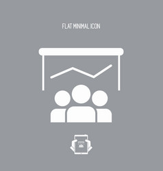 report conference - flat minimal icon vector image