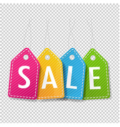 sale price tags transparent background vector image