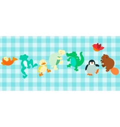 Sea critters set vector