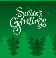 Seasons greetings text vector